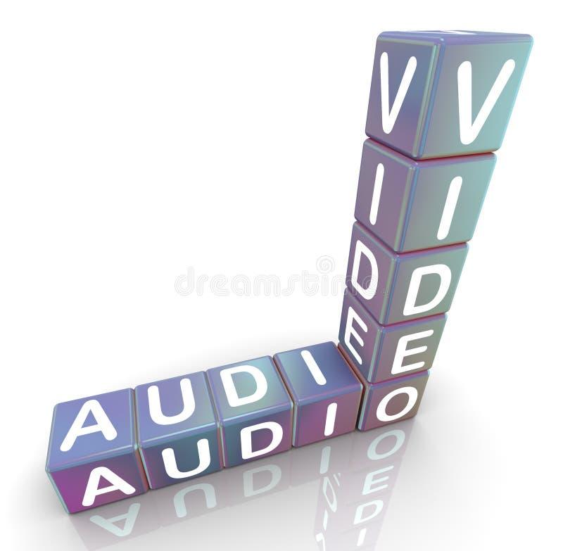 Crucigrama video audio ilustración del vector