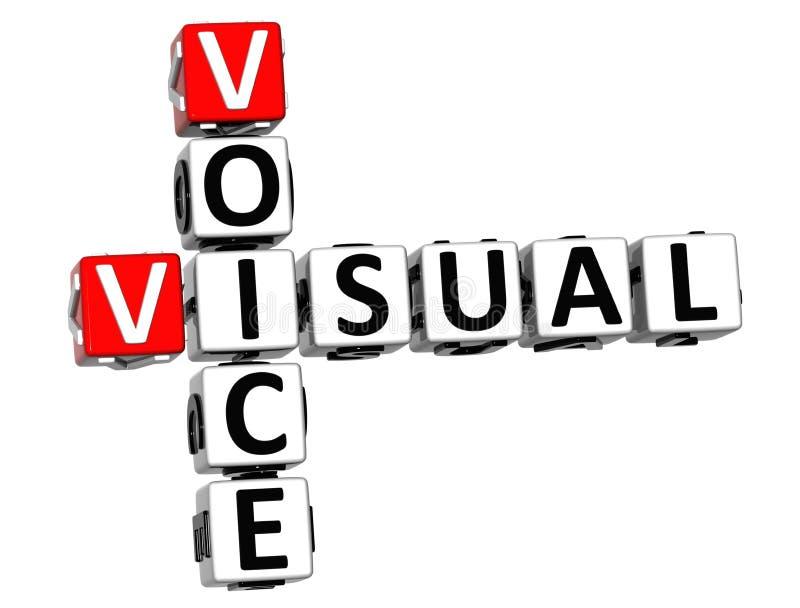 crucigrama visual de la voz 3D stock de ilustración