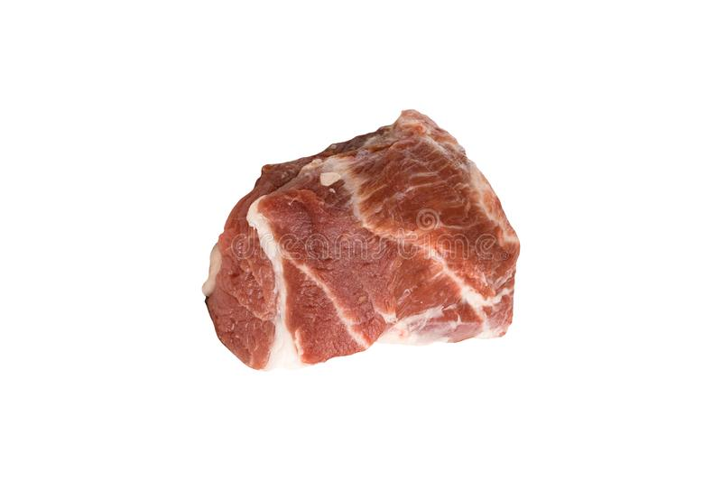 Crude meat on a white stock photography