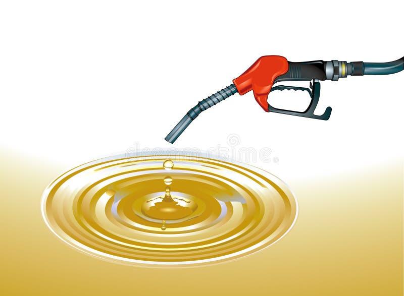 Crude oil. Gasoline oil, petroleum stock illustration