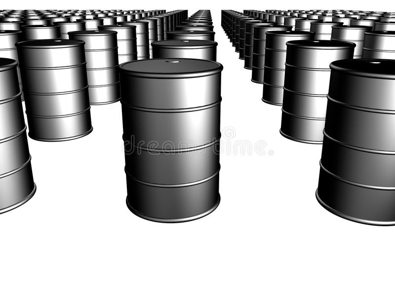 Crude oil barrels. Infinite stock of crude oil barrels stock illustration