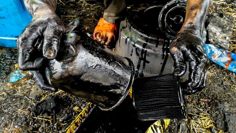 Crude Oil, Hand, Occupation, Mechanic, Engine royalty free stock photo
