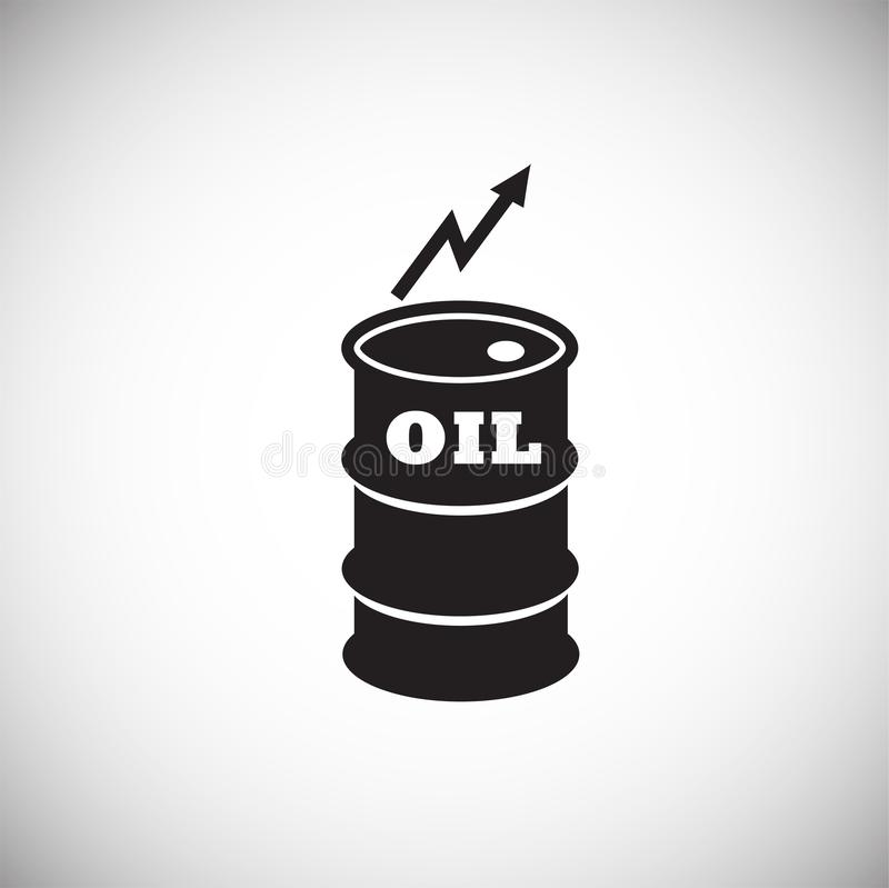 Crude oil rate barrel on white background. Icon royalty free illustration