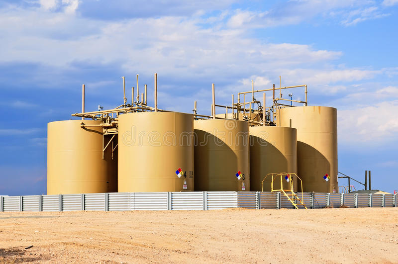 Download Crude Oil Storage Tanks In Central Colorado, USA Stock Photo - Image: 26129092
