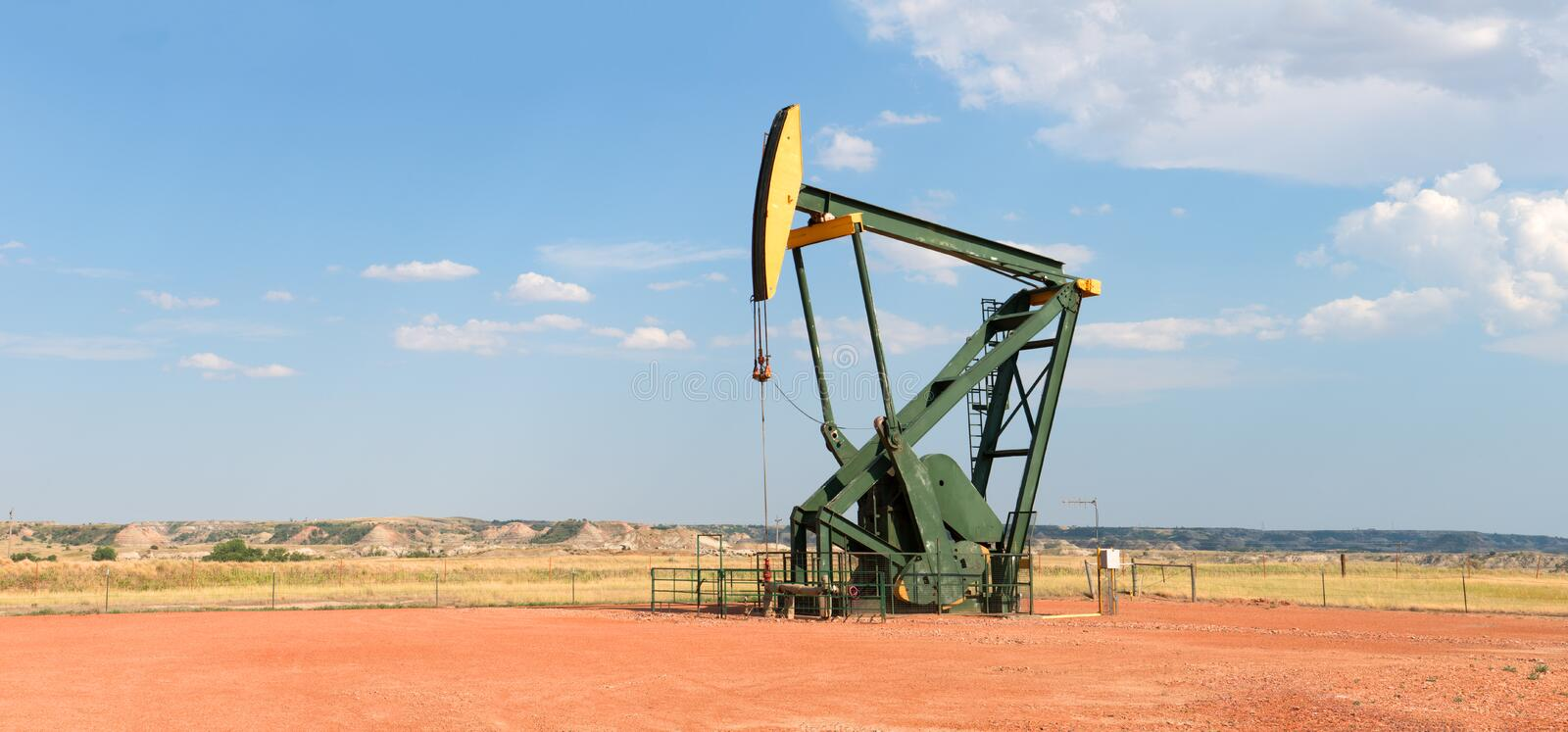 Crude Oil Well Drilling Pump stock photography