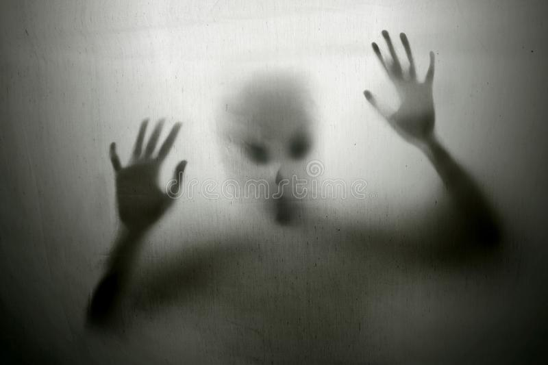 Cruel alien attack the earth. Mysterious alien attack the earth stock images
