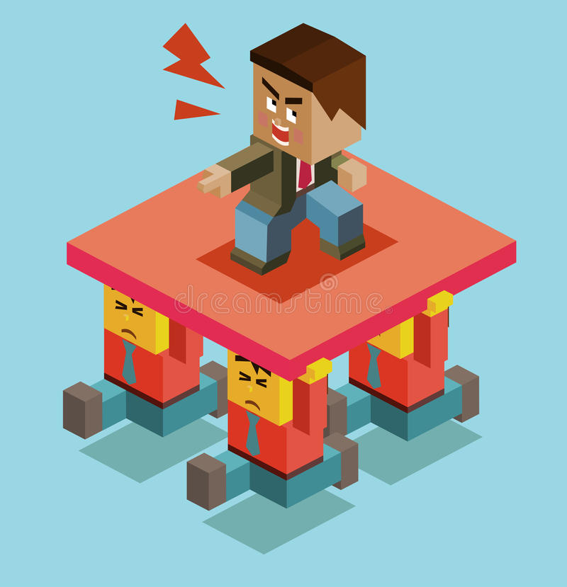Cruel boss. Of employee. illustration royalty free illustration