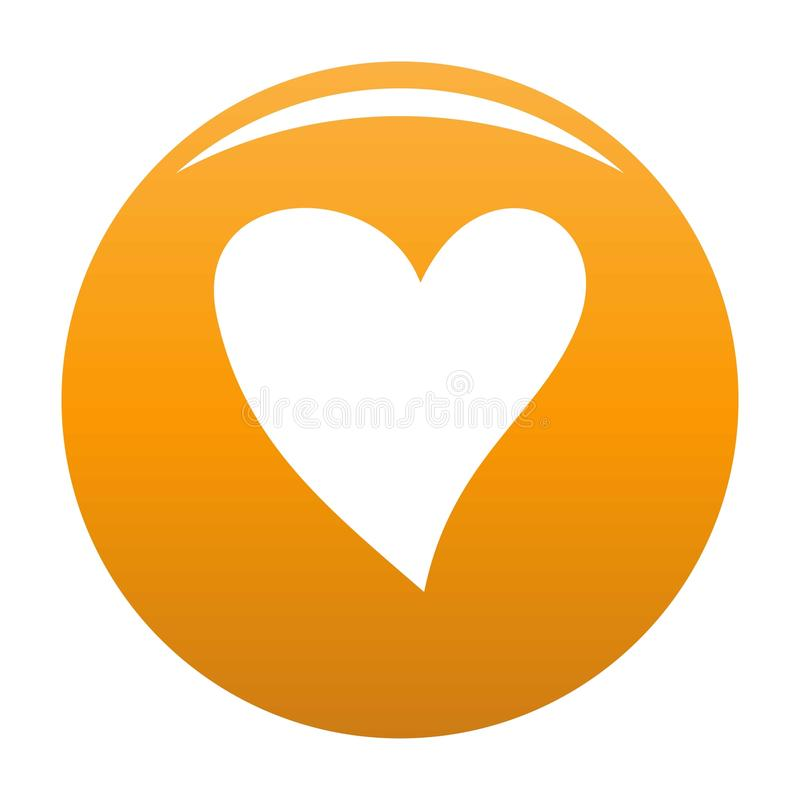 Cruel heart icon vector orange. Cruel heart icon. Simple illustration of cruel heart vector icon for any design orange stock illustration