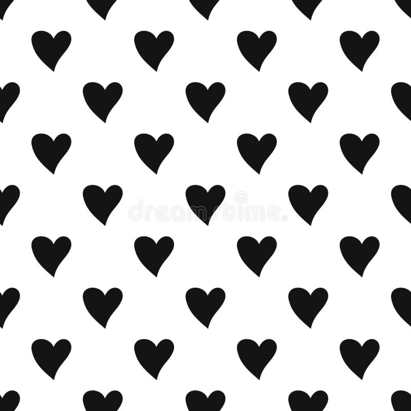 Cruel heart pattern seamless vector. Repeat geometric for any web design stock illustration