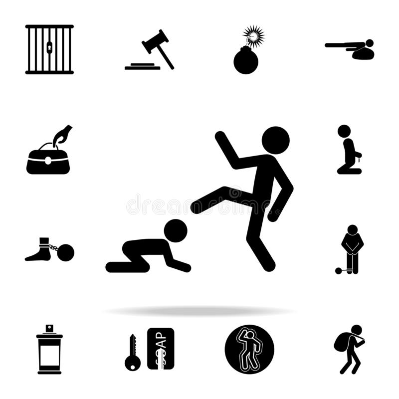 Cruel parent icon. Crime icons universal set for web and mobile. On white background stock illustration