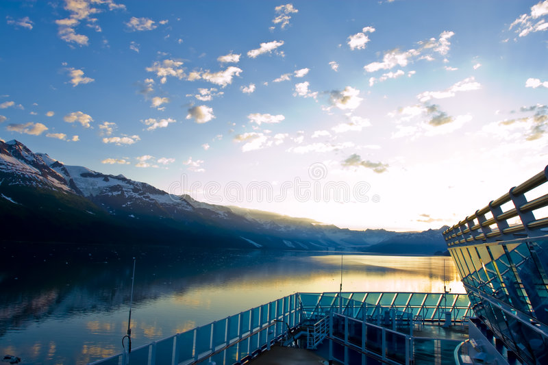 Cruise aan Alaska stock foto's