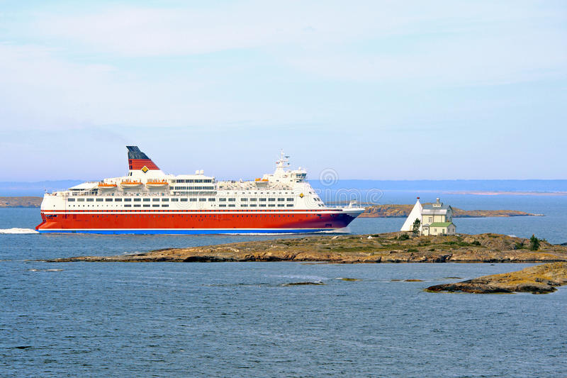 Cruise in Aland-archipel royalty-vrije stock foto