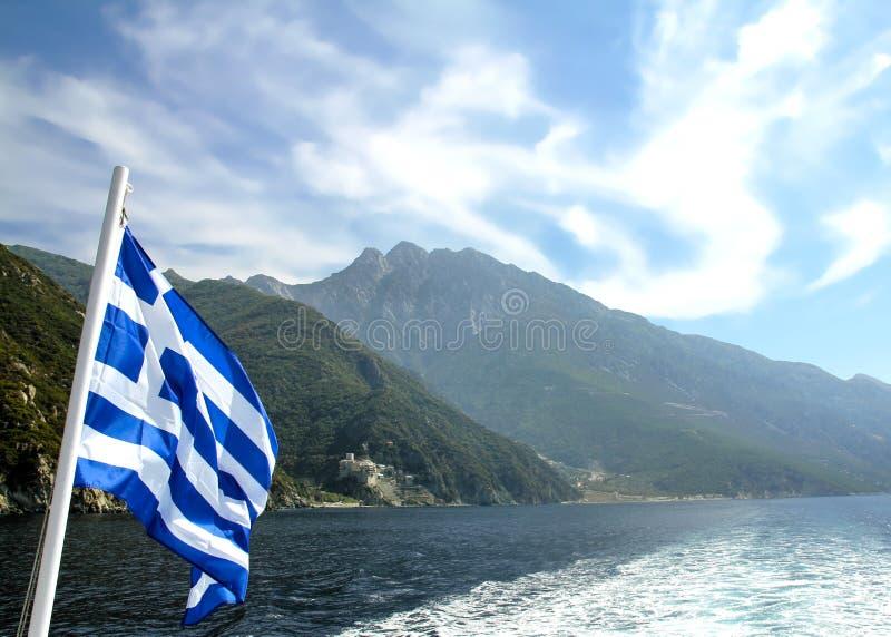 Cruise around Mount Athos - Greece. Cruise in Mediterranean sea around Agion Oros - Athos Holly Mountain Greece royalty free stock photography