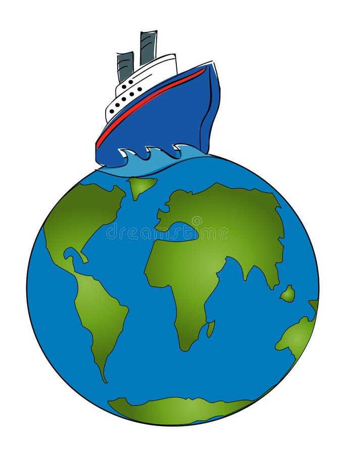Cruise around the world stock illustration illustration for Around the world cruise