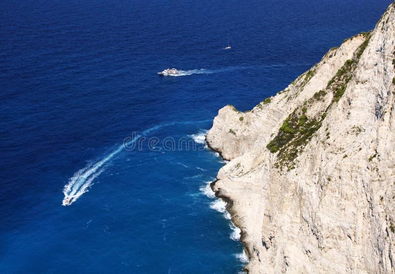 Cruise around Zakynthos royalty free stock image