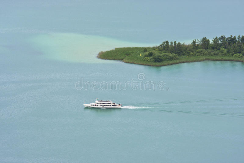 Cruise by boat over Wörthersee, Austria royalty free stock image