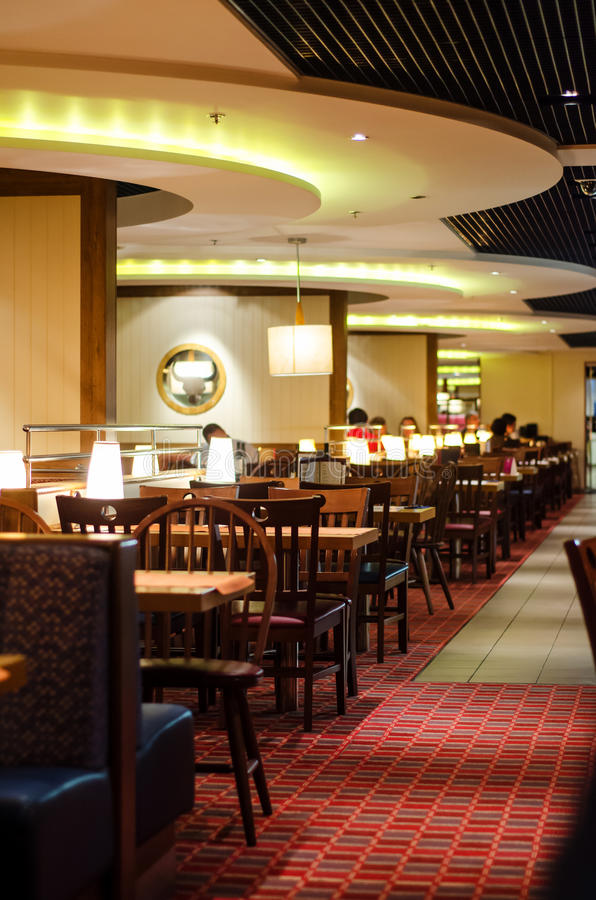 Cruise boat restaurant stock photos