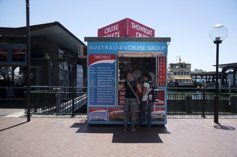 Cruise boat ticket booth, Circular Quay - Sydney stock photo