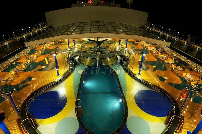 Cruise Deck Pool royalty free stock images