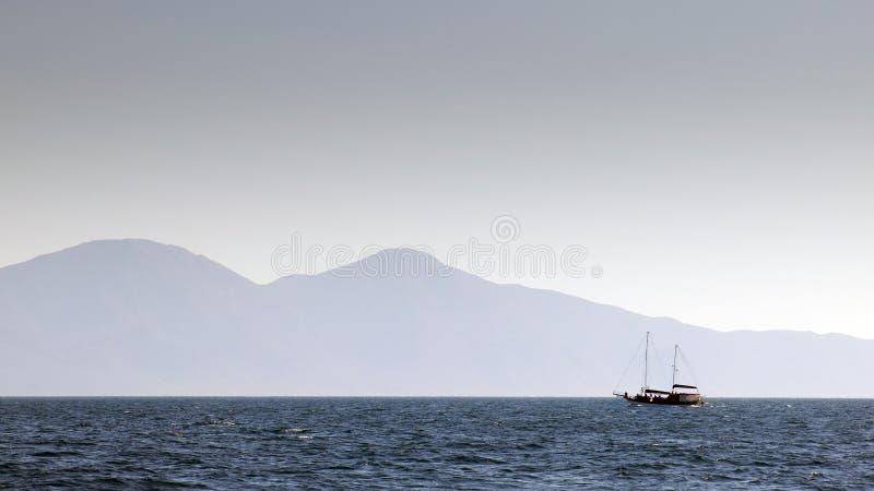 Cruise in Egeïsch royalty-vrije stock afbeeldingen