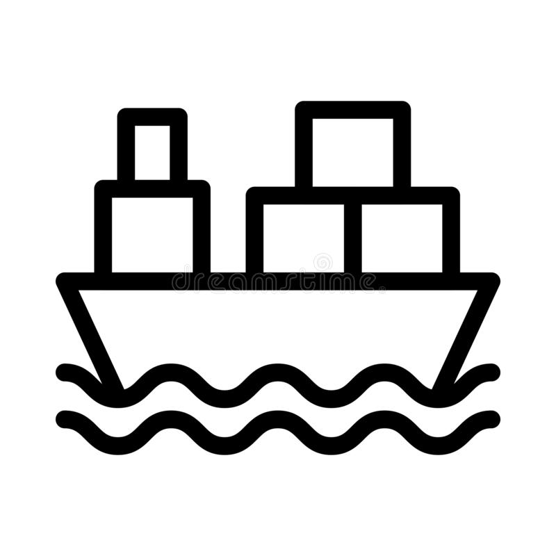 Cruise thin line  icon stock illustration