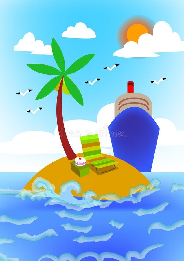 Download Cruise line stock illustration. Image of cruise, illustration - 22591775