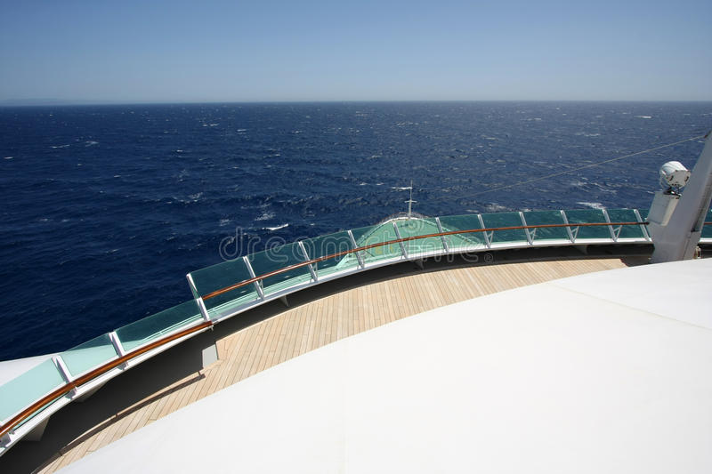 Cruise liner. A Cruise liner sailing on the open ocean royalty free stock images