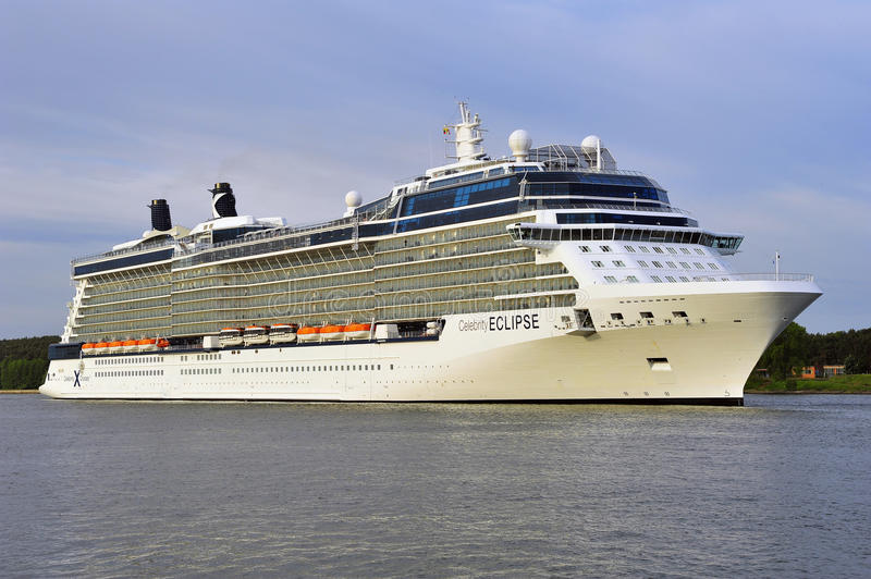 Cruise liner CELEBRITY ECLIPSE in port royalty free stock image