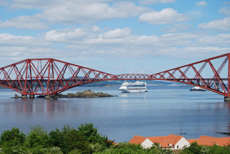 Cruise Liner in Forth royalty free stock photography