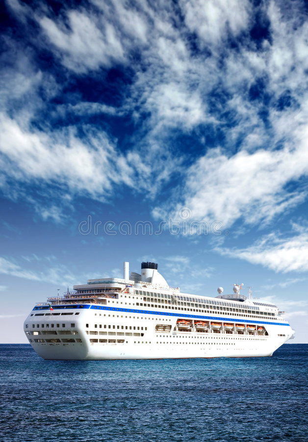 Download Cruise liner in open sea stock photo. Image of travel - 1884386