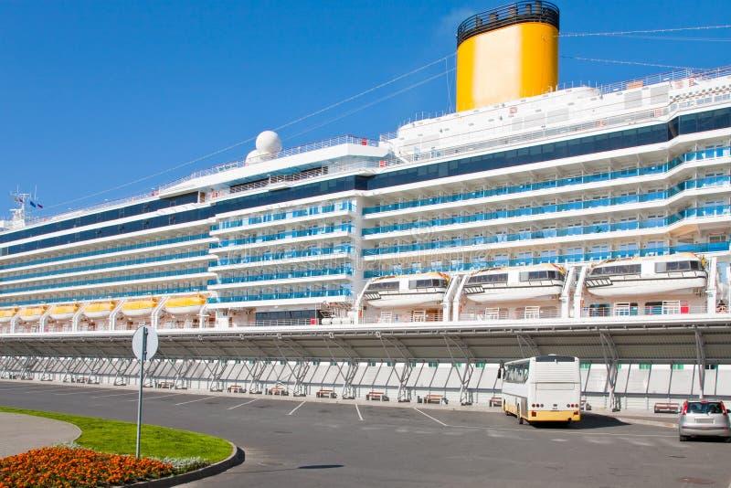Download Cruise liner in port stock image. Image of liner, summer - 21482859