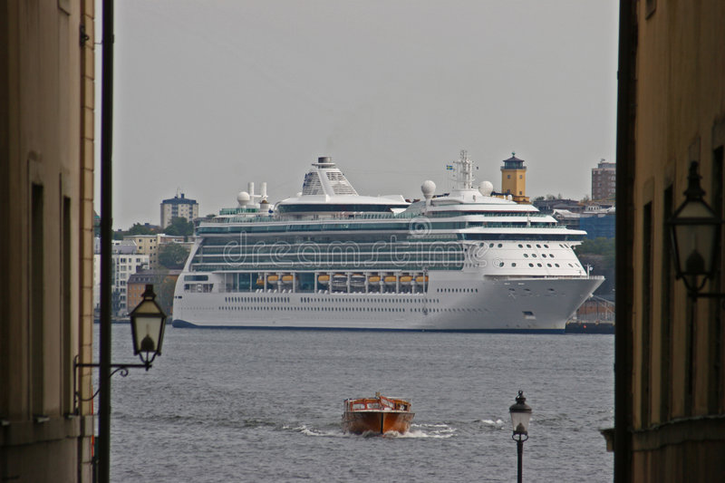 Download Cruise Liner in Stockholm stock photo. Image of visitor - 1407656