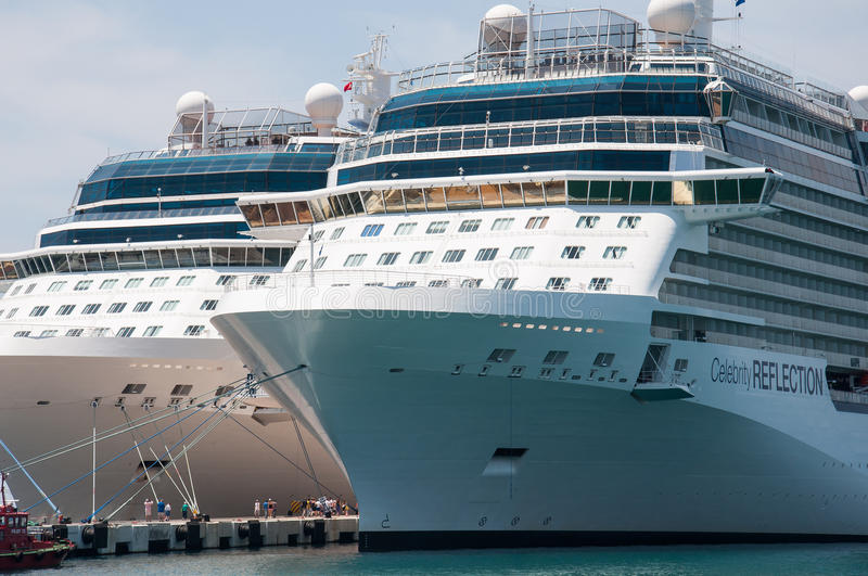 Cruise Liners stock photography
