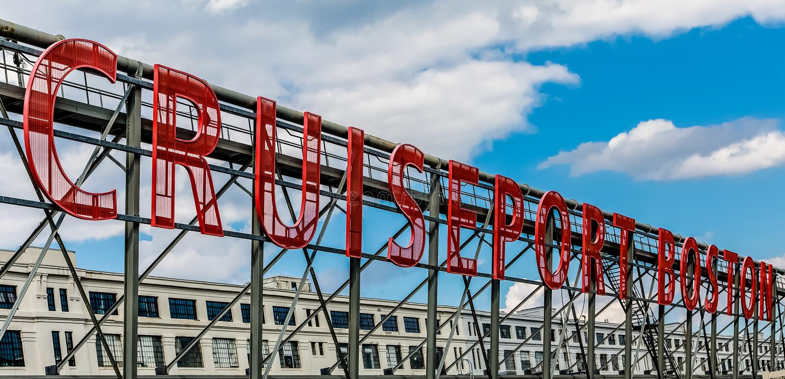 Cruise Port Boston Sign Stock Photo Image Of Transportation - Roller coaster on a cruise ship