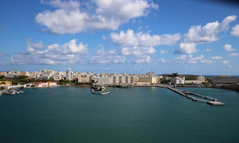 Cruise port in San Juan, Puerto Rico royalty free stock images