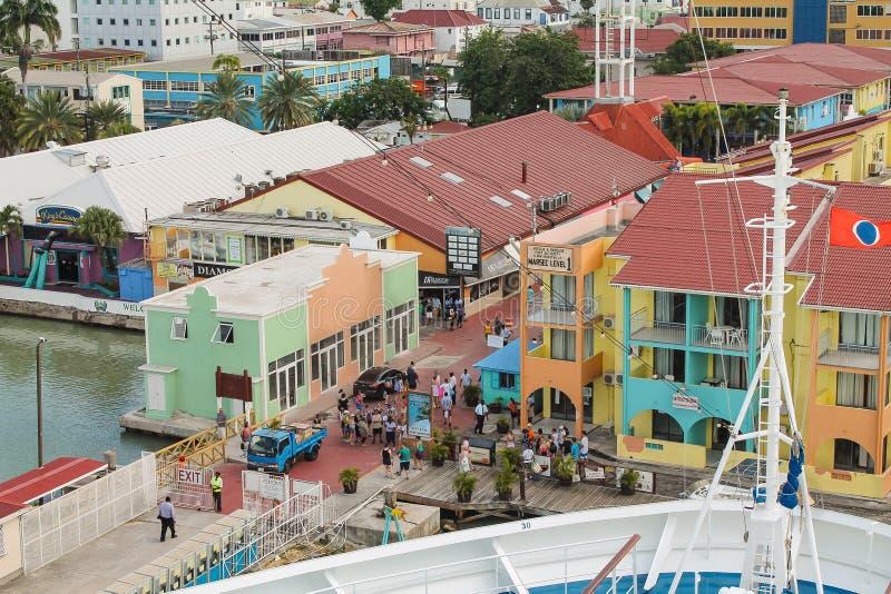The cruise port of St. John`s in Antigua - Caribbean stock image
