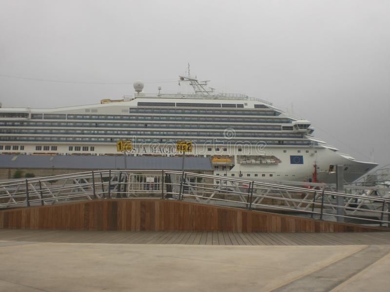 Cruise in the port of Vigo about to depart. North of Spain royalty free stock photos