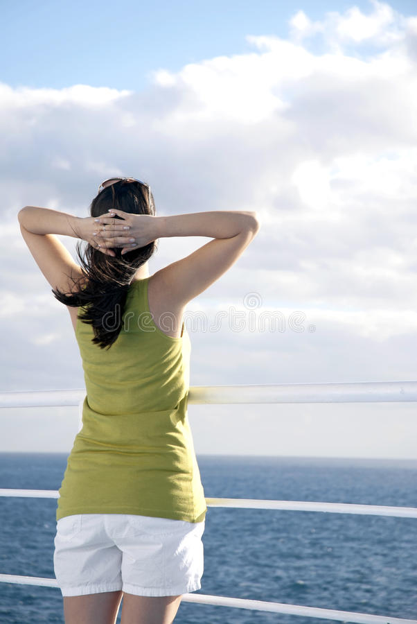 Cruise relaxation royalty free stock images