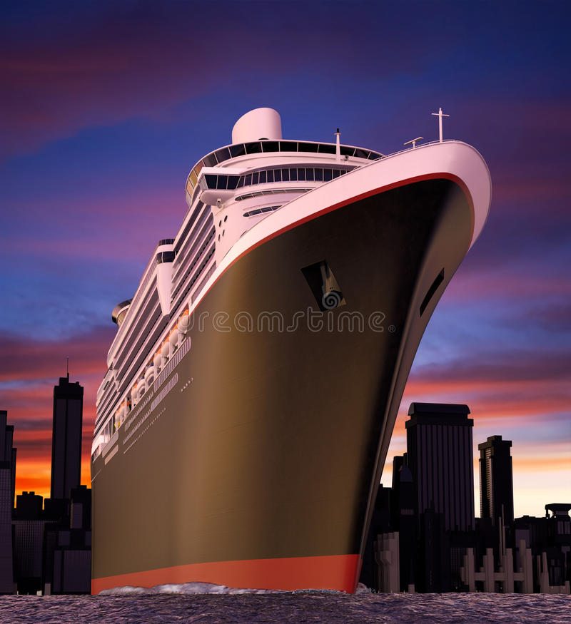 Download Cruise ship stock illustration. Image of tropical, honeymoon - 11185686