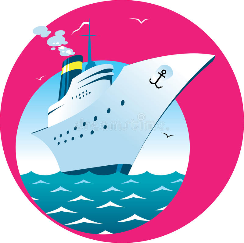 Cruise ship vector illustration