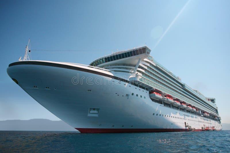 Cruise-ship. Waiting to be anchored stock photos