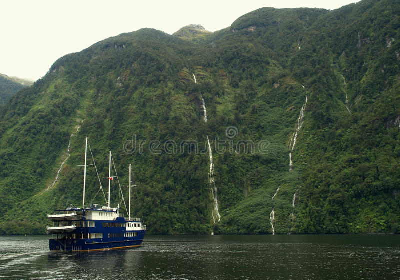 Download Cruise ship stock photo. Image of grey, mysterious, fiord - 22477536