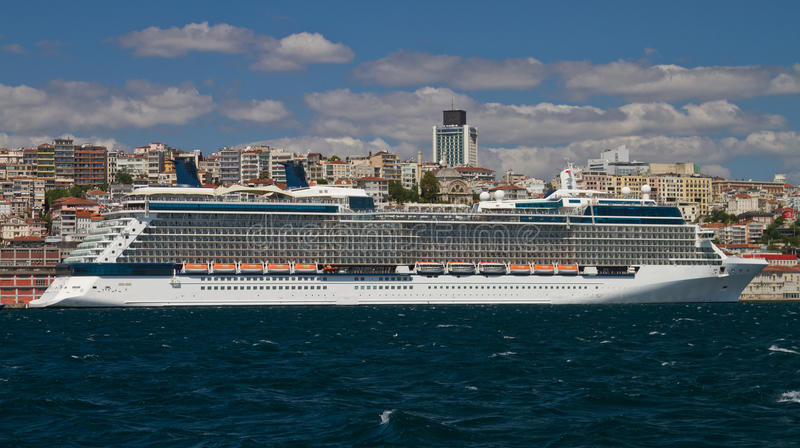 Cruise Ship. From Istanbul Port stock photography