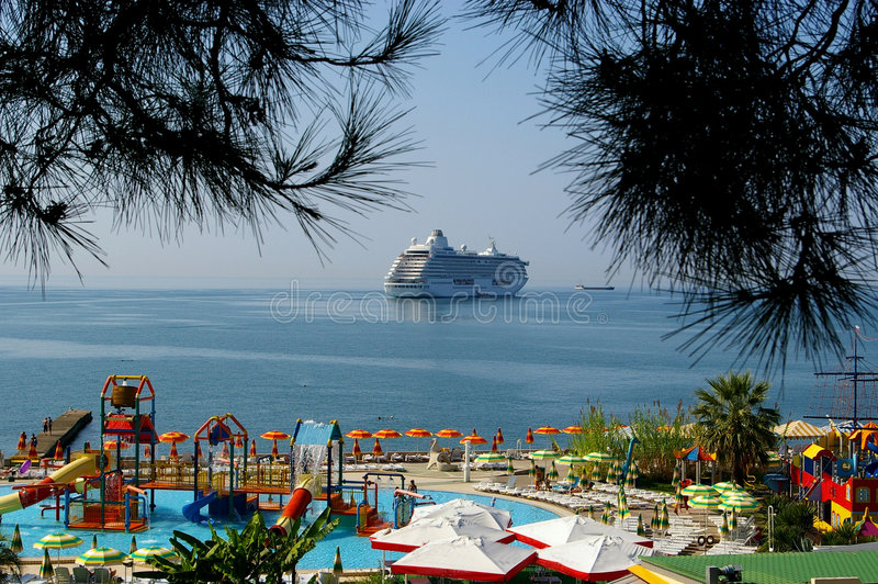 Download Cruise ship stock photo. Image of port, sail, boat, blue - 5056482