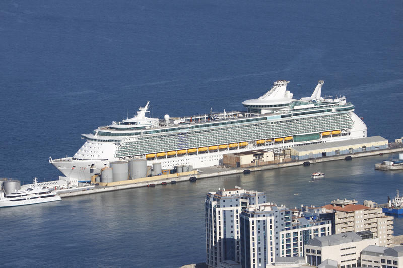 Download Cruise ship aerial view stock image. Image of europe - 16541991