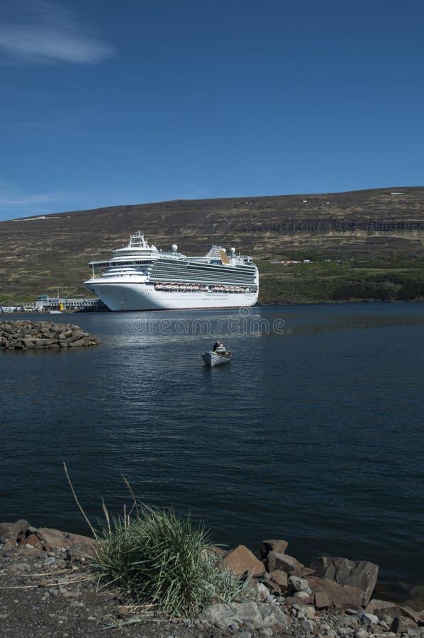 Cruise Ship In Akureyri Editorial Image