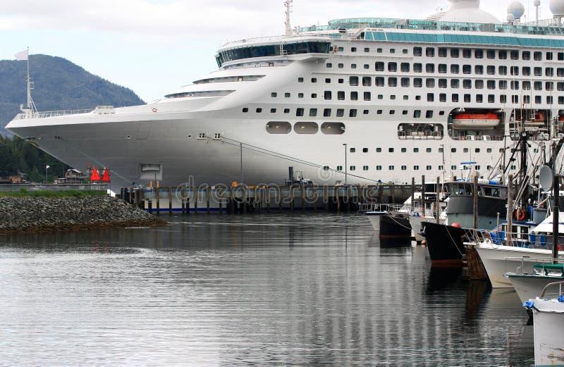 Cruise Ship in Alaska stock photography