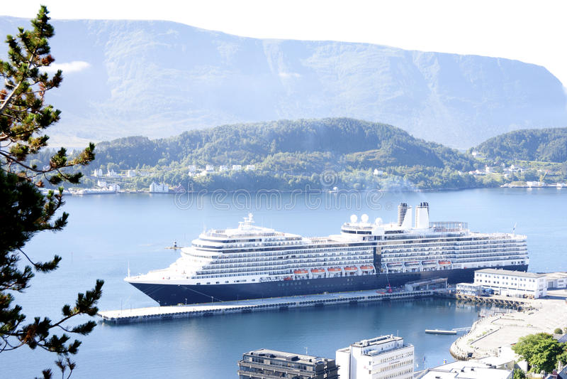 Download Cruise Ship In Alesund Norway Stock Photo - Image: 26381402
