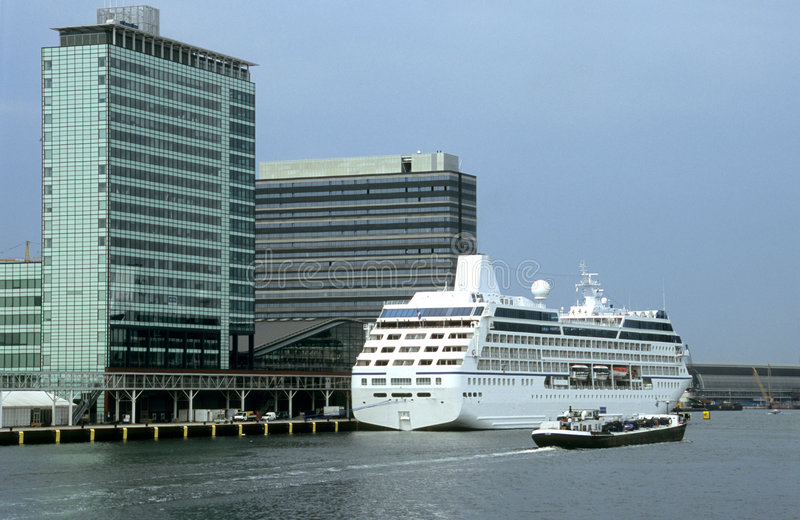 Cruise Ship Amsterdam royalty free stock photo