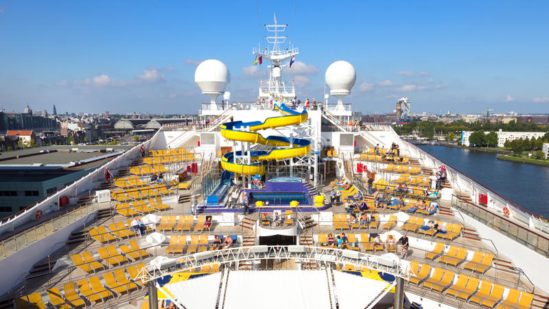 Cruise Ship Amsterdam stock photography